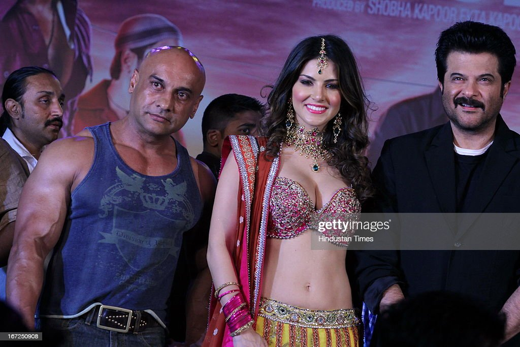 Bollywood actors Anil Kapoor (R) and Sunny Leone (C) during the promotion of their upcoming film 'Shootout At Wadala' at The Great India Place, shopping mall on April 21, 2013 in Noida, India. It is the sequel to 2007 film Shootout at Lokhandwala, and is based on the book Dongri to Dubai written by Hussain Zaidi. The film features John Abraham, Anil Kapoor, Kangna Ranaut, Tusshar Kapoor and Sonu Sood in lead roles. The film was expected to release on May 1, 2013, but has been postponed to release on May 3, 2013.