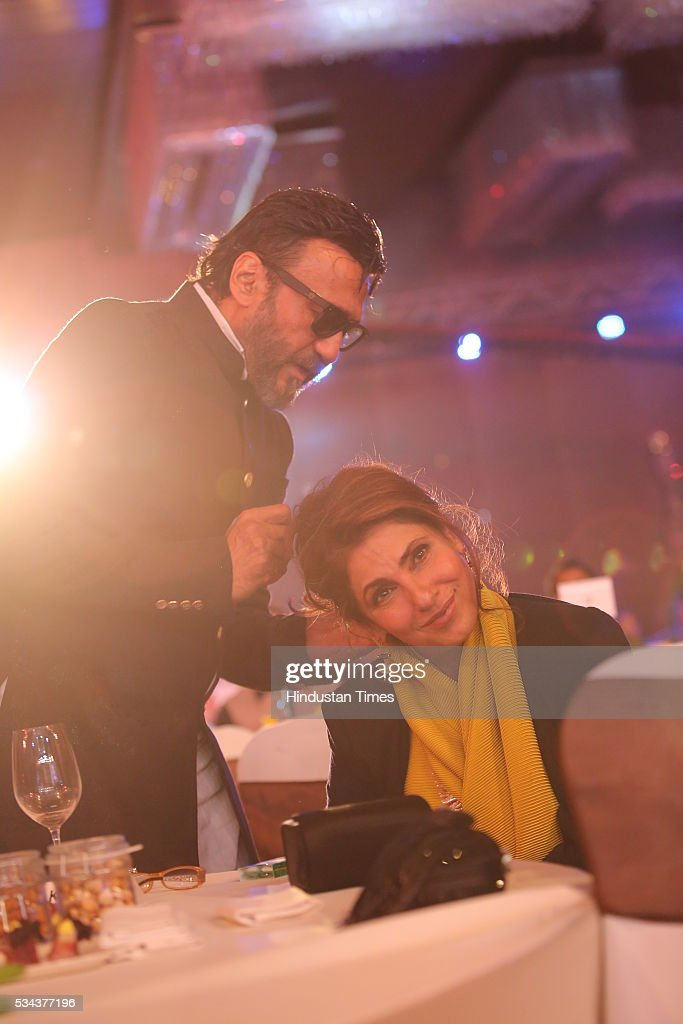 Bollywood actors Jackie Shroff and Dimple Kapadia during a sixth edition of Hindustan Times Most Stylish Awards 2016 at Hotel JW Marriot, Aerocity on May 24, 2016 in New Delhi, India.