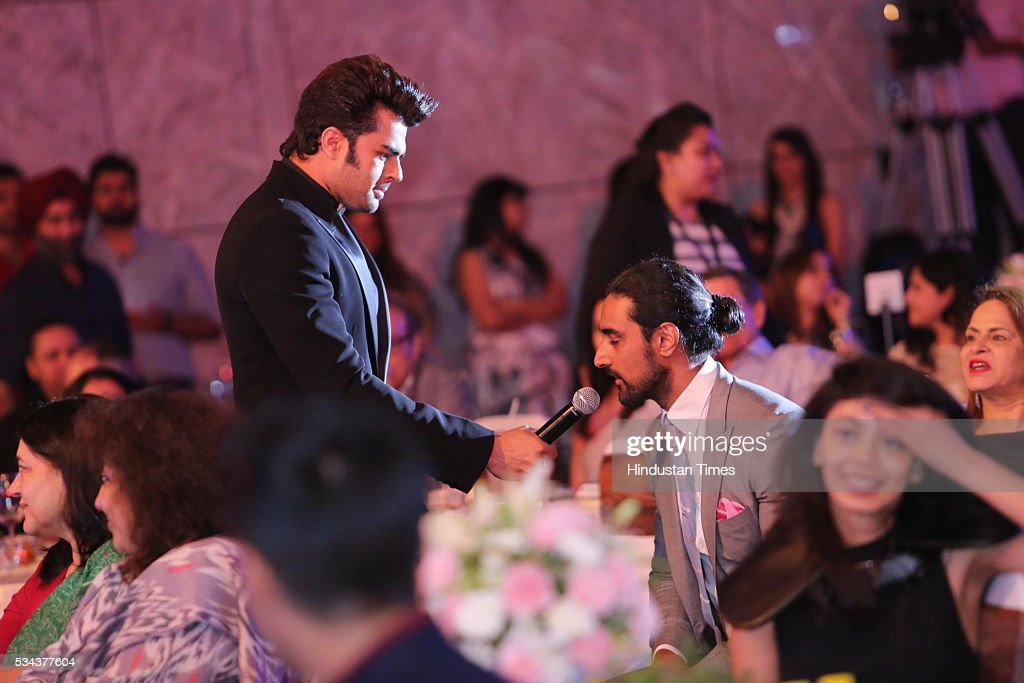 Bollywood actors Kunal Kapoor and Manish Paul during a sixth edition of Hindustan Times Most Stylish Awards 2016 at Hotel JW Marriot, Aerocity on May 24, 2016 in New Delhi, India.