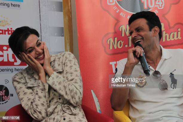 Bollywood actors Manoj Bajpayee and Taapsee Pannu during an exclusive interview with HT CityHindustan Times for the promotion of film 'Naam Shabana'...