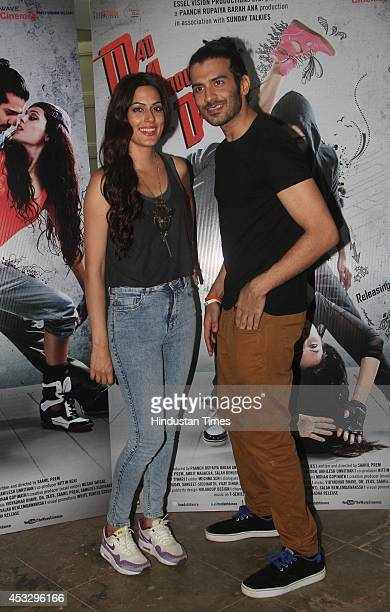 Bollywood actors Saahil Prem and Amrit Maghera during promotion of their forthcoming movie Mad About Dance at Mehboob Studio Bandra on August 5 2014...