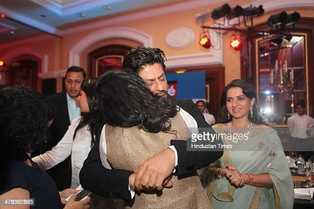 Bollywood actors Shahrukh Khan and Kajol Devgan during the Hindustan Times Mumbais 'Most Stylish Awards 2014' at ITC Grand Central Parel on March 8...