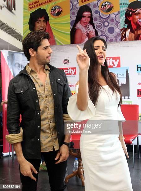 Bollywood actors Sidharth Malhotra and Katrina Kaif during the promotion of upcoming movie 'Baar Baar Dekho' at HT City Office HT House on August 8...