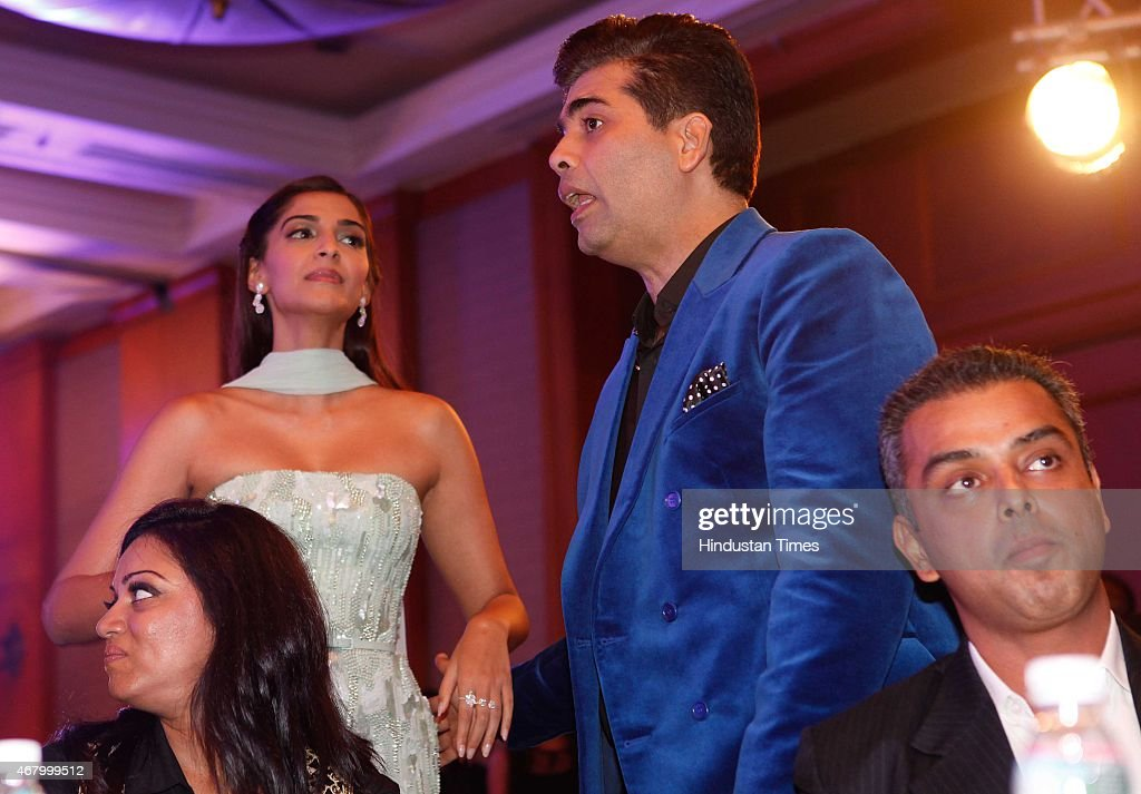 Bollywood actors <a gi-track='captionPersonalityLinkClicked' href=/galleries/search?phrase=Sonam+Kapoor&family=editorial&specificpeople=4504004 ng-click='$event.stopPropagation()'>Sonam Kapoor</a> and <a gi-track='captionPersonalityLinkClicked' href=/galleries/search?phrase=Imran+Khan+-+Actor&family=editorial&specificpeople=13488791 ng-click='$event.stopPropagation()'>Imran Khan</a> during the Hindustan Times Mumbai's Most Stylish Awards 2015 at JW Mariott Hotel, Juhu on March 26, 2015 in Mumbai, India.