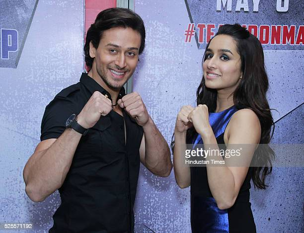 Bollywood actors Tiger Shroff and Shraddha Kapoor during an interview for the promotion of upcoming movie 'Baaghi' at HT Media office on April 26...