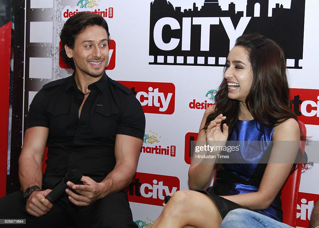 Bollywood actors Tiger Shroff and Shraddha Kapoor during an interview for promotion of upcoming movie Baaghi at HT Media office on April 26, 2016 in New Delhi, India.
