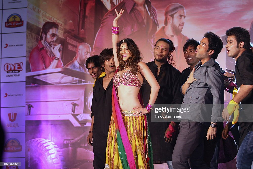 Bollywood actors Tusshar Kapoor and Sunny Leone performing during the promotion of their upcoming film 'Shootout At Wadala' at The Great India Place, shopping mall on April 21, 2013 in Noida, India. It is the sequel to 2007 film Shootout at Lokhandwala, and is based on the book Dongri to Dubai written by Hussain Zaidi. The film features John Abraham, Anil Kapoor, Kangna Ranaut, Tusshar Kapoor and Sonu Sood in lead roles. The film was expected to release on May 1, 2013, but has been postponed to release on May 3, 2013.
