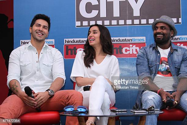 Bollywood actors Varun Dhawan Shraddha Kapoor and director Remo D'Souza during an exclusive interview with HT CityHindustan Times for the promotion...