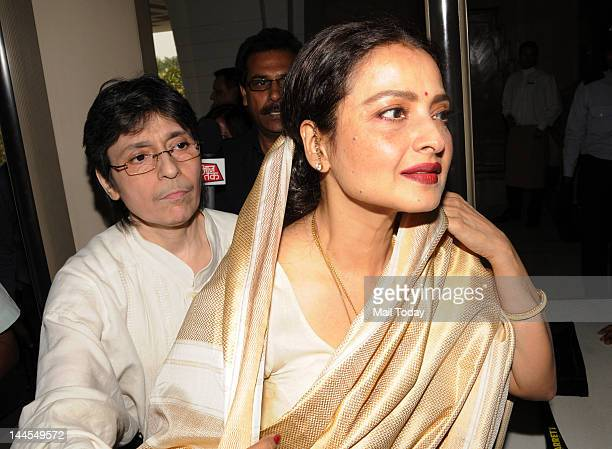 Bollywood actress and Member of Parliament for Rajya Sabha Rekha arrives at Parliament House in New Delhi on Tuesday Rekha on Tuesday took oath as a...