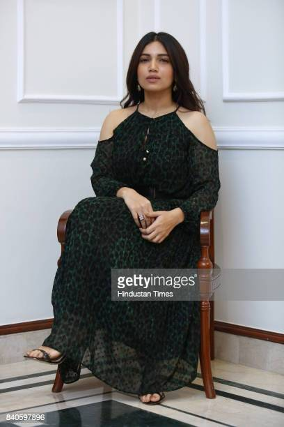 Bollywood actress Bhumi Pednekar during an interview on August 9 2017 in New Delhi India