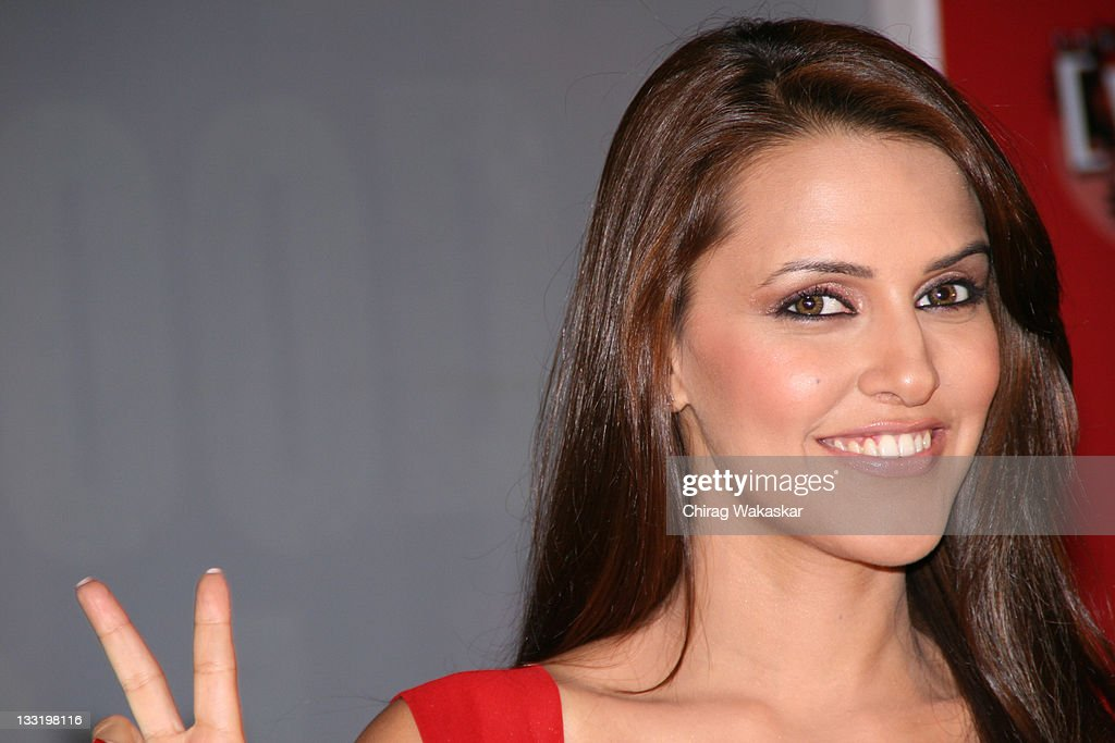 Bollywood Actress & Ex Miss India <a gi-track='captionPersonalityLinkClicked' href=/galleries/search?phrase=Neha+Dhupia&family=editorial&specificpeople=2195000 ng-click='$event.stopPropagation()'>Neha Dhupia</a> at the press conference to announce India's first ever Live Bollywood flick titled 'Andaz Apna Very Hatke' to be aired on Channel [V] held at Joss Pub on February 21, 2008 in Mumbai, India.