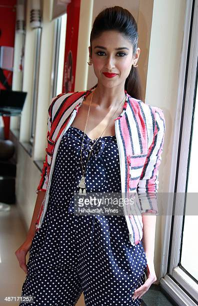 Bollywood actress Ileana D'Cruz pose for a photo session duing promotion of her upcoming film Mein Tera Hero on April 2 2014 in New Delhi India Main...