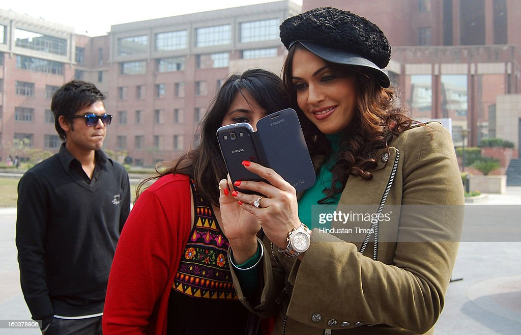 Bollywood actress Isha Koppikar at Amity University, Sector 125 during the talent hunt competition on January 30, 2013 in Noida, India.