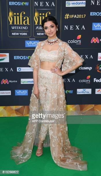 Bollywood actress Ivya Khosla Kumararrive arrives for the IIFA Awards July 15 2017 at the MetLife Stadium in East Rutherford New Jersey during the...