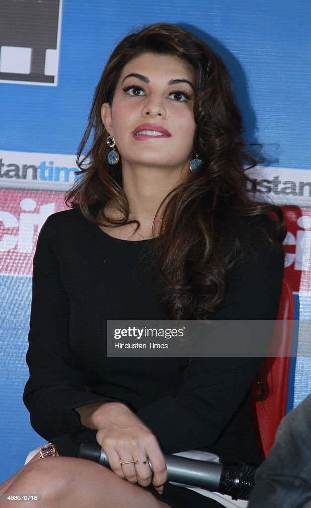 Bollywood actress <a gi-track='captionPersonalityLinkClicked' href=/galleries/search?phrase=Jacqueline+Fernandez&family=editorial&specificpeople=5749256 ng-click='$event.stopPropagation()'>Jacqueline Fernandez</a> during an interview for the promotion of her upcoming film Roy at HT House on February 10, 2015 in New Delhi, India.
