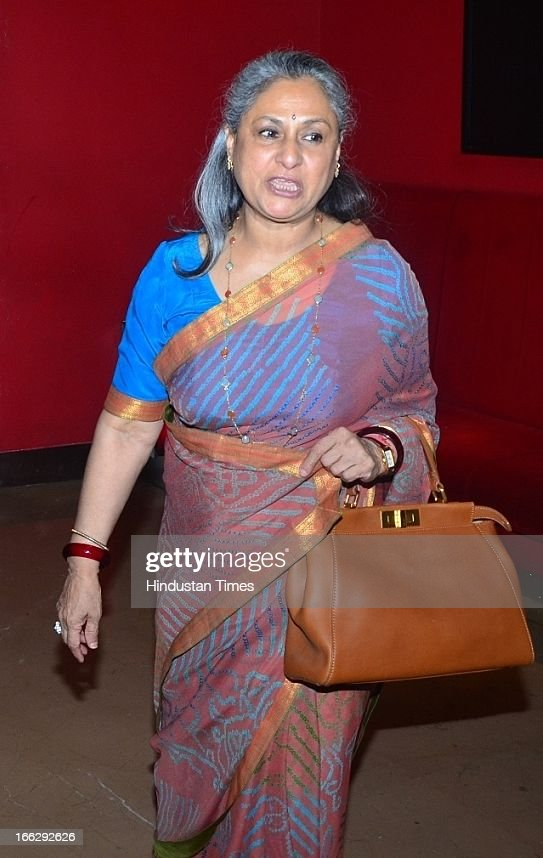 Bollywood actress <a gi-track='captionPersonalityLinkClicked' href=/galleries/search?phrase=Jaya+Bachchan&family=editorial&specificpeople=1026829 ng-click='$event.stopPropagation()'>Jaya Bachchan</a> during the Women's Prerna Awards 2013 at Hotel Tulip Star, Juhu on April 9, 2013 in Mumbai, India. The Women's Prerna Awards 2013 honored the spirit and perseverance of women who have achieved success against all odds and have been a Prerna (inspiration) for many.