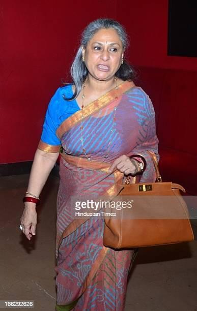 Bollywood actress Jaya Bachchan during the Women's Prerna Awards 2013 at Hotel Tulip Star Juhu on April 9 2013 in Mumbai India The Women's Prerna...