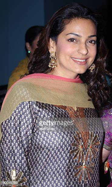 Bollywood actress Juhi Chawla at the launch of the the book 'The Journey home Autobiography of an American Swami' in Mumbai on Friday August 21 2009