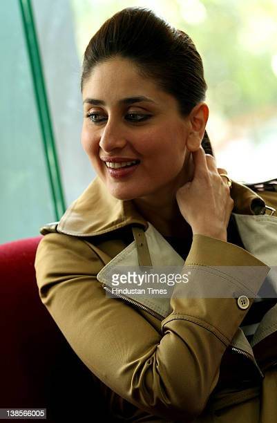 Bollywood Actress Kareena Kapoor at HT City office on February 8 2012 in New Delhi India She was on promotion tour for her upcoming movie Ek Main Aur...
