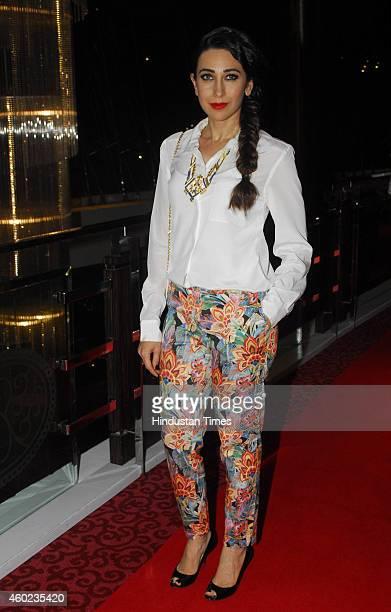 Bollywood actress Karisma Kapoor at charity art auction by Nikhar Tandon Foundation Samvednaat Sofitel Hotel BKC on December 6 2014 in Mumbai India