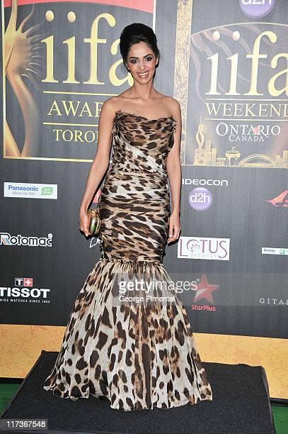 Bollywood actress Malika Sherwa attends the MAC Cosmetics Sponsored IIFAS Awards Presentation at the Rogers Centre on June 25 2011 in Toronto Canada