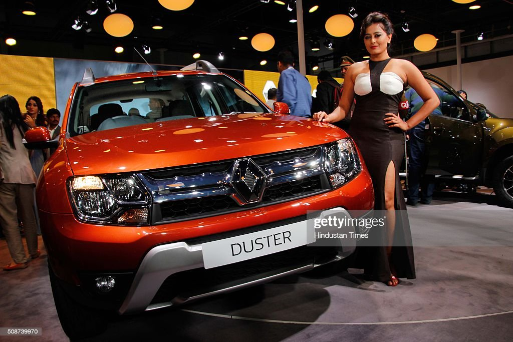Bollywood actress Nidhi Subbaiah during the launch of new Renault Duster at the Auto Expo 2016, on February 4, 2016 in Greater Noida, India. The 13th edition of the Delhi Auto Expo kicked off at the India Expo Mart (IEM) in Greater Noida with brands from over 20 countries showcasing various cars, bikes and automobile trends. India, the worlds fifth biggest auto market, has an extremely low number of cars for its 1.2 billion people, with industry figures suggesting there are as few as 16 per 1,000 people