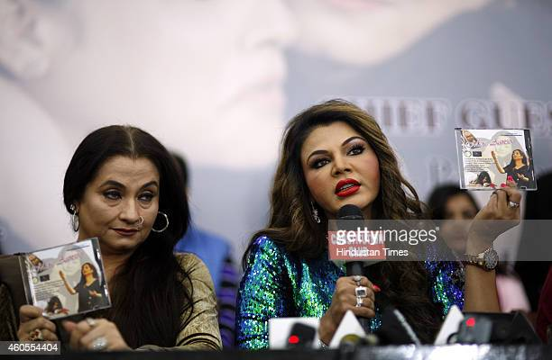 Bollywood actress Rakhi Sawant with Pakistani actress and singer Salma Agha at the launch of Mere Aansoo an album based on Nirbhaya Gang rape on...