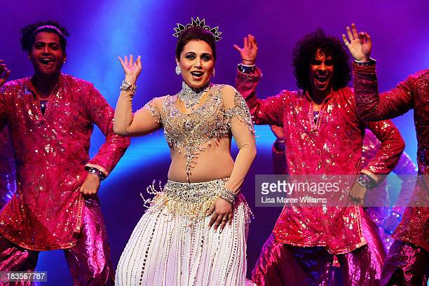 Bollywood actress Rani Mukerji performs live for fans at Allphones Arena on October 7 2013 in Sydney Australia This performance of 'Temptation...