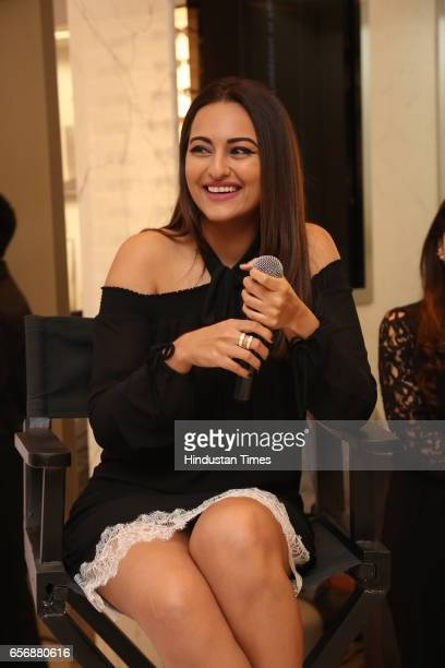 Bollywood actress Sonakshi Sinha during an event at Michael Kors store at DLF Emporio Mall on March 20 2017 in New Delhi India