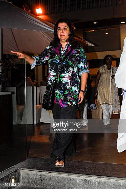 Bollywood choregrapher turned filmmaker Farah Khan during the condolence meeting organised in the memory of late filmmaker Ravi Chopra at Blue sea...