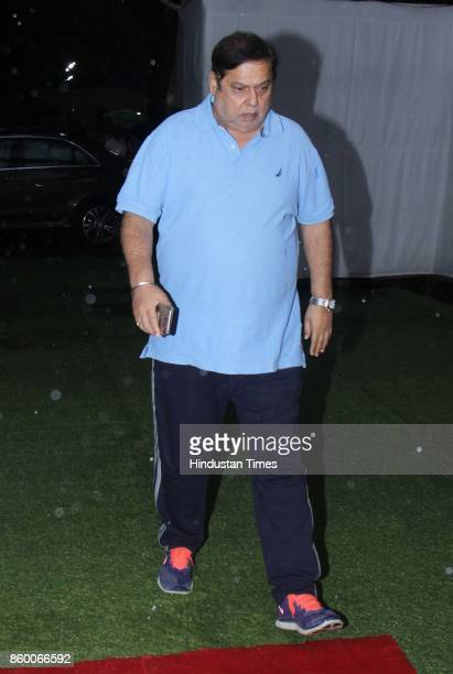 Bollywood director David Dhawan during the condolence meet of Filmmaker Kundan Shah at Santacruz on October 10 2017 in Mumbai India Kundan Shah the...