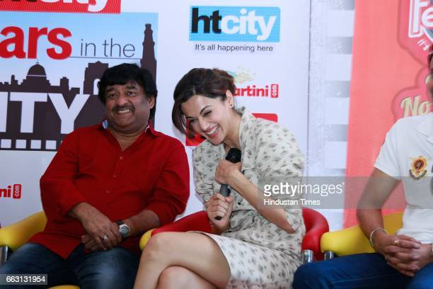 Bollywood director Shivam Nair and actor Taapsee Pannu during an exclusive interview with HT CityHindustan Times for the promotion of film 'Naam...