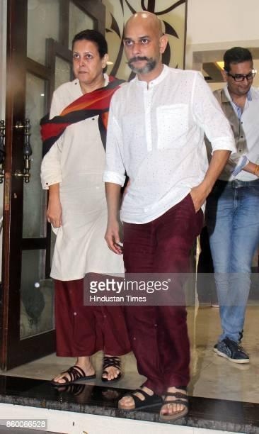 Bollywood director Vijay Krishna Acharya during the condolence meet of Filmmaker Kundan Shah at Santacruz on October 10 2017 in Mumbai India Kundan...