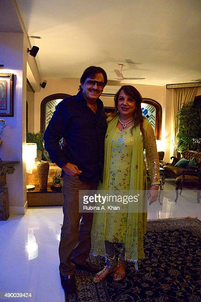 Bollywood filmmaker and actor Sanjay Khan and his wife Zarine celebrate Bakrid with their family and friends at their residence Sanjay Plaza on...
