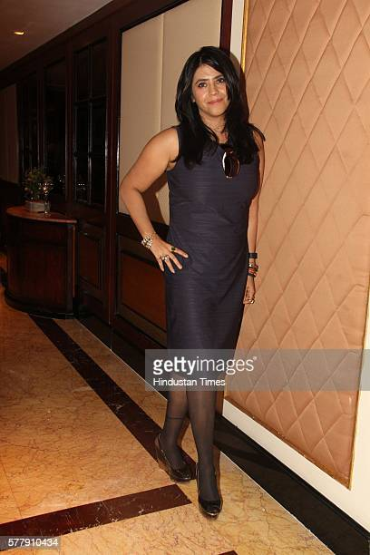 Bollywood filmmaker Ekta Kapoor during a press conference on the issue of piracy and online leak of the movie Great Grand Masti on July 16 2016 in...