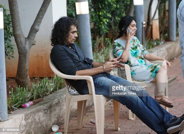 Bollywood filmmaker Imtiaz Ali spotted at a studio in Goregaon for the promotion of upcoming movie on July 11 2017 in Mumbai India