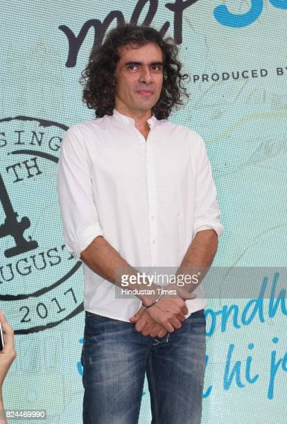 Bollywood filmmaker Imtiaz Ali spotted during the launch of a song of the movie 'Jab Harry Met Sejal' on July 26 2017 in Mumbai India