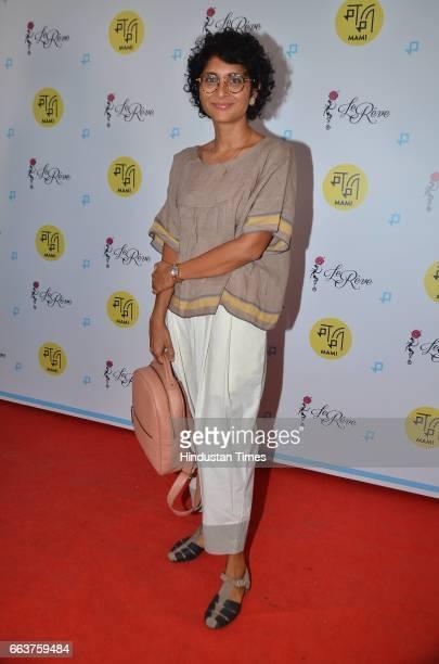 Bollywood filmmaker Kiran Rao during the premiere of film La La Land at the Jio MAMI Film Club at Le Reve Bandra on March 31 2017 in Mumbai India