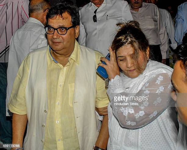 Bollywood filmmaker Subhas Ghai during the condolence meeting organised in the memory of late filmmaker Ravi Chopra at Blue sea Hotel Worli on...