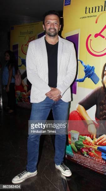 Bollywood Producer Atul Kasbekar during the trailer launch of movie 'Tumhari Sulu' at Cinepolis Andheri on October 14 2017 in Mumbai India Tumhari...
