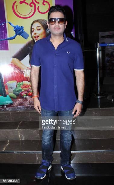 Bollywood Producer Bhushan Kumar during the trailer launch of movie 'Tumhari Sulu' at Cinepolis Andheri on October 14 2017 in Mumbai India Tumhari...