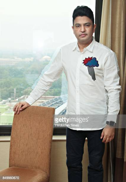 Bollywood Producer Bhushan Kumar poses during an exclusive interview with HT CityHindustan Times at Hotel LeMeridian on September 16 2017 in New...