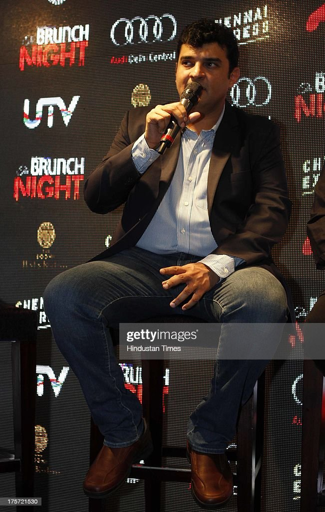 Bollywood Producer <a gi-track='captionPersonalityLinkClicked' href=/galleries/search?phrase=Siddharth+Roy+Kapur&family=editorial&specificpeople=6236847 ng-click='$event.stopPropagation()'>Siddharth Roy Kapur</a> during HT Brunch Night with Chennai Express at The Lodhi Hotel on August 5, 2013 in New Delhi, India. Chennai Express is an upcoming 2013 Indian action-comedy film directed by Rohit Shetty and produced by Gauri Khan under her production banner Red Chillies Entertainment. Chennai Express will be seen in Hindi, English, French, Spanish, Arabic, German, Hebrew, Dutch, Turkish and Malay.