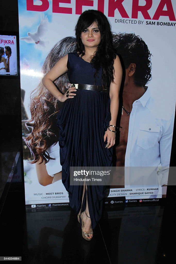 Bollywood singer Aditi Singh Sharma during the launch of single album Befikra, on June 28, 2016 in Mumbai, India.