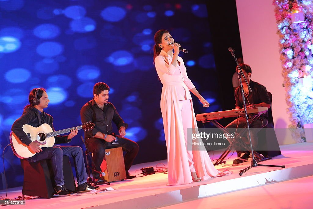 Bollywood singer Neeti Mohan during a sixth edition of Hindustan Times Most Stylish Awards 2016 at Hotel JW Marriot, Aerocity on May 24, 2016 in New Delhi, India.