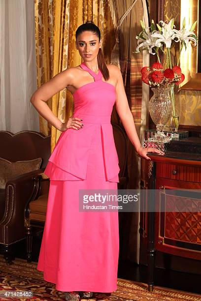 Bollywood star Illeana Dcruz poses for the picture at the launch of Giles At Koovs on April 23 2015 in New Delhi India