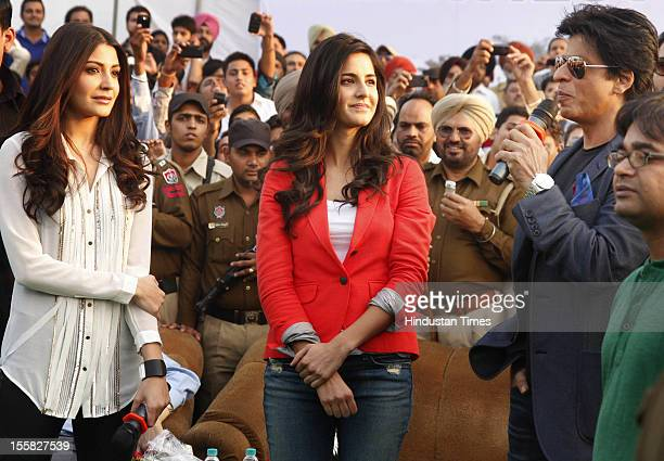 Bollywood stars Shahrukh Khan Katrina Kaif and Anushka Sharma visit Doaba College as a tribute to late Yash Chopra who was alumni of the college on...