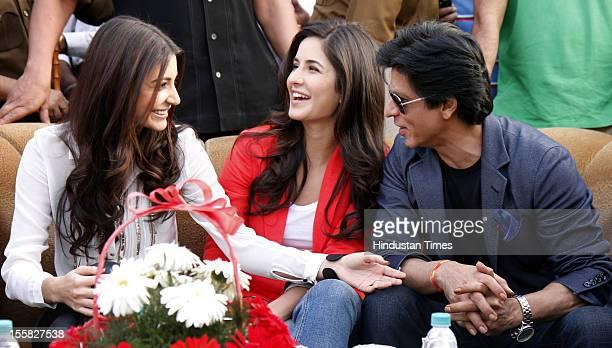 Bollywood stars Shahrukh Khan Katrina Kaif and Anushka Sharma visit Doaba College as a tribute to late Yash Chopra who was alumni of the college on...