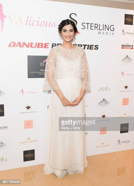 Bollywood Superstar L'oreal Ambassador Sonam Kapoor attends Divalicious London at The Mayfair Hotel on March 25 2017 in London England