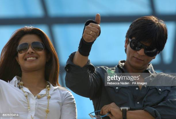 Bollywood superstars Priyanka Chopra and Shahrukh Khan